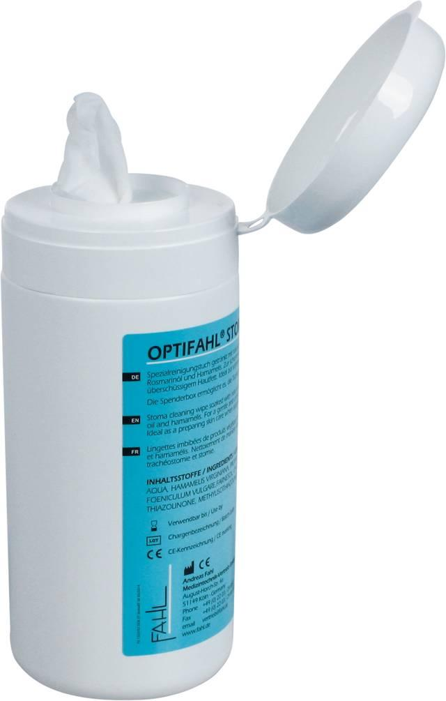 Optifahl Stoma Cleaning Wipes Koker